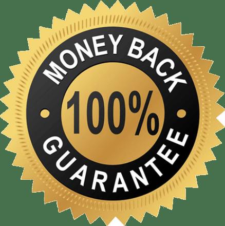 100% money back logo